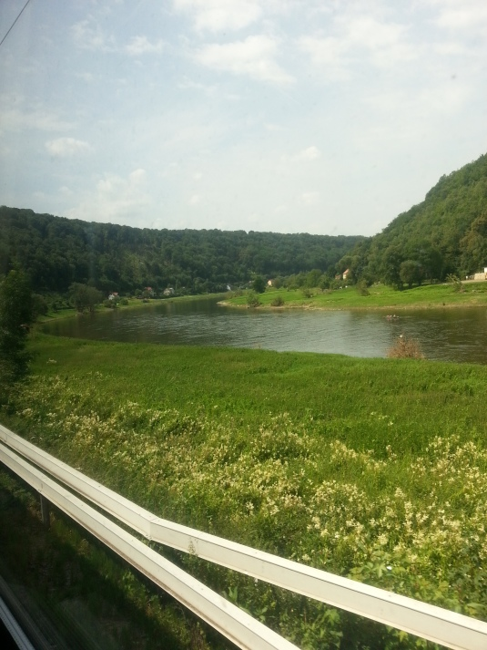 Beaut shot of rural Prague on the train