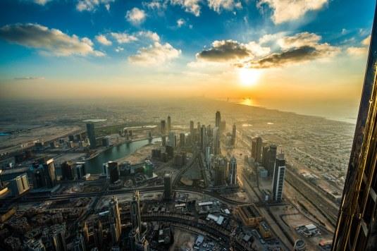 Dubai by sunset // credit: SimSullen / Flickr